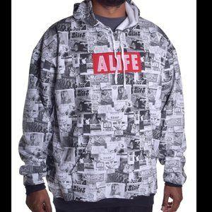 ALIFE Men's Collage Streetwear Hoodie L RARE